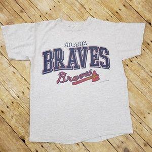 Vintage 90s Atlanta Braves Baseball tshirt